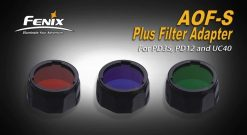 Fenix AOF-SB Blue Filter Adapter Front Side With Title and Dark Border
