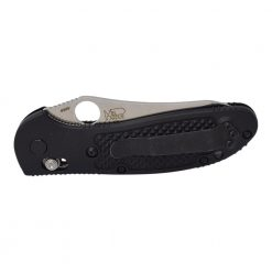 Benchmade Griptilian S30V Sheepsfoot Blade Black Nylon Handle Back Side Closed