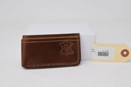 Grommet's Leathercraft Vertical Manu Minimalist Brown Shell Cordovan Wallet Temporary Back Side