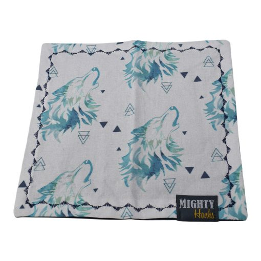 Mighty Hanks Handkerchief Howl at the Moon Mighty Mini with Microfiber Open