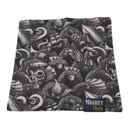 Mighty Hanks Handkerchief Sea Monsters Mighty Mini with Microfiber Open