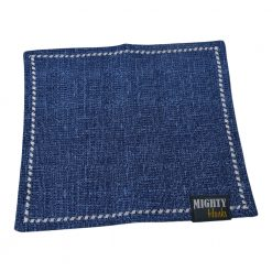 Mighty Hanks Handkerchief Textured Cobalt Mighty Mini with Microfiber Open