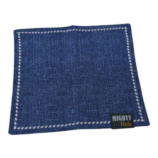 Mighty Hanks Handkerchief Textured Cobalt Mighty Mini with Microfiber Open