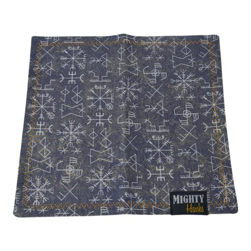 Mighty Hanks Handkerchief Viking Runes Mighty Mini with Microfiber Open
