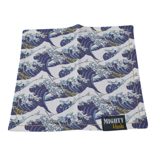 Mighty Hanks Handkerchief The Great Wave Mighty Mini with Microfiber Open
