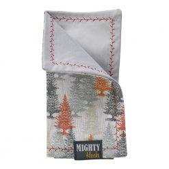 Mighty Hanks Handkerchief Happy Trees Mighty Mini with Microfiber Closed