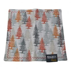 Mighty Hanks Handkerchief Happy Trees Mighty Mini with Microfiber Open
