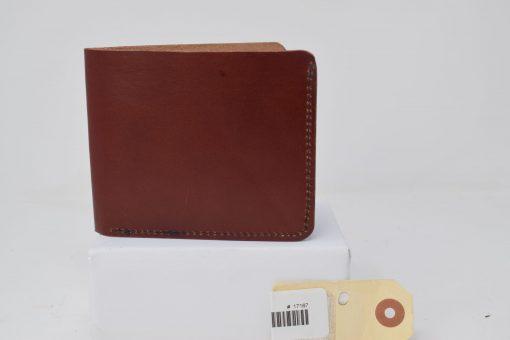 Grommet's Leathercraft Bifold Herman Oak Red Brown Wallet Temporary Front Side