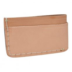 Grommet's Leathercraft Manu Minimalist Natural Napa Wallet Back Side