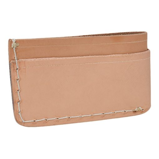 Grommet's Leathercraft Manu Minimalist Natural Napa Wallet Back Side