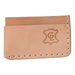 Grommet's Leathercraft Manu Minimalist Natural Napa Wallet Front Side