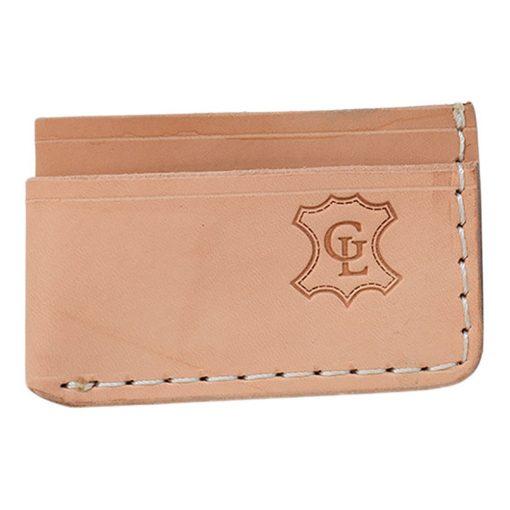 Grommet's Leathercraft Manu Minimalist Natural Napa Wallet Front Side