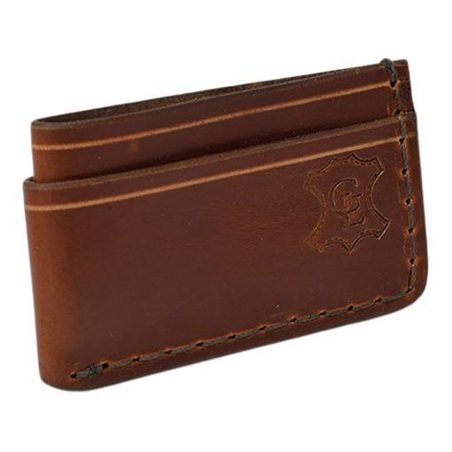 Grommet's Leathercraft Manu Minimalist Light Brown Napa Wallet Front Side