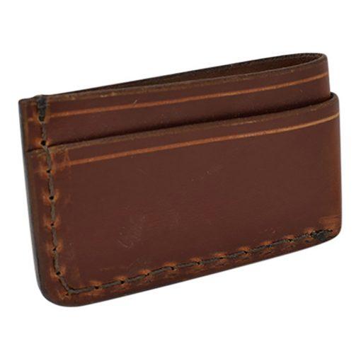 Grommet's Leathercraft Manu Minimalist Light Brown Napa Wallet Back Side