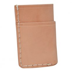 Grommet's Leathercraft Vertical Manu Minimalist Natural Napa Wallet Back Side