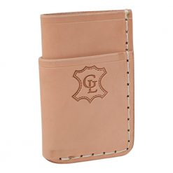 Grommet's Leathercraft Vertical Manu Minimalist Natural Napa Wallet Front Side