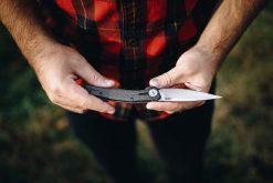 Zero Tolerance 0707 20CV Blade Carbon Fiber/Titanium Handle Front Side Open With Hands