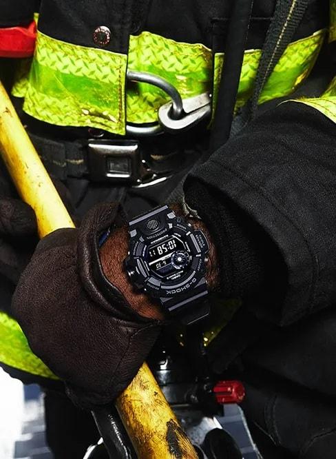 G-Shock Digital Master of G Black GW9400-1B Front Side Closed With Model 2