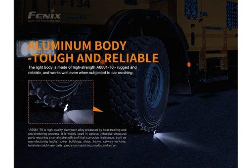 Fenix TK22UE Tactical Flashlight - 1600 Lumens Infographic 12