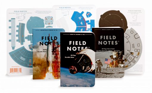 Field Notes Three Missions Graph Paper Memo Book 3 Pack (With Punch-Out Capsule Models) Front Side Center All Contents