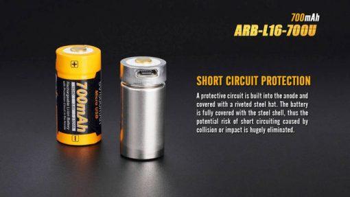 Fenix ARB-L16-700U USB Rechargeable Li-ion 16340 Battery - 700mAh Infographic 4