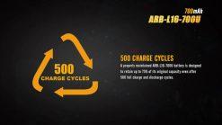 Fenix ARB-L16-700U USB Rechargeable Li-ion 16340 Battery - 700mAh Infographic 6