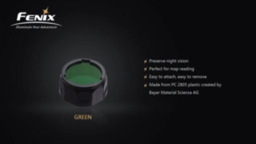 Fenix AOF-SG Green Filter Adapter Infographic 1 solo