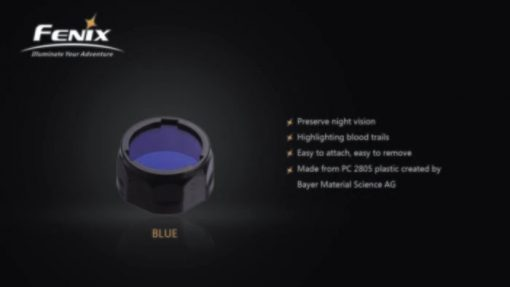 Fenix AOF-SB Blue Filter Adapter Infographic 2 solo
