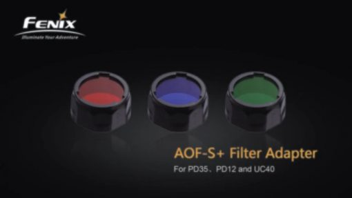Fenix AOF-SB Blue Filter Adapter Infographic 1