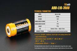 Fenix ARB-L16-700U USB Rechargeable Li-ion 16340 Battery - 700mAh Infographic 7