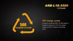 Fenix ARBL18 High-Capacity 18650 Battery - 3500mAh Front With Title Infographic 5
