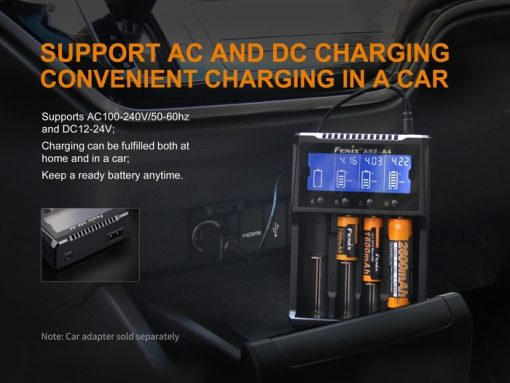 Fenix ARE-A4 Multifunctional Battery Charger Infographic 6