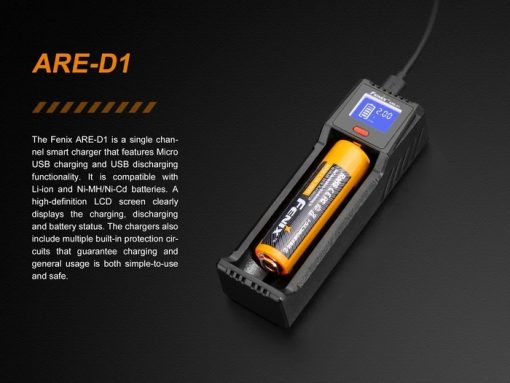 Fenix ARE-D1 Single Channel Smart Battery Charger Infographic 2