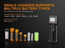Fenix ARE-D1 Single Channel Smart Battery Charger Infographic 3