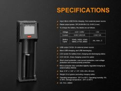 Fenix ARE-D1 Single Channel Smart Battery Charger Infographic 8