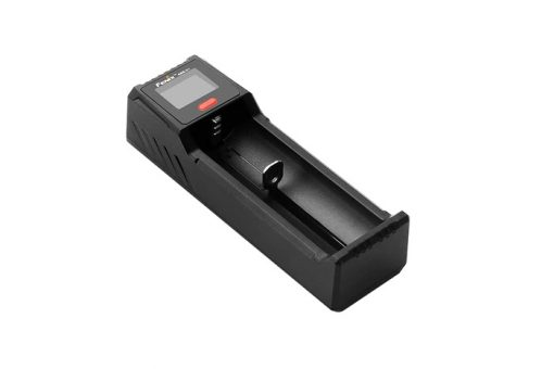 Fenix ARE-D1 Single Channel Smart Battery Charger Front Side Angled Right