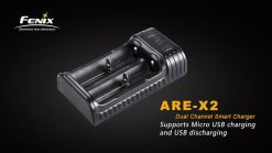 Fenix ARE-X2 Dual Channel Smart Charger Infographic 1