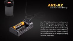 Fenix ARE-X2 Dual Channel Smart Charger Infographic 2