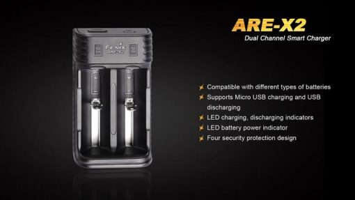 Fenix ARE-X2 Dual Channel Smart Charger Infographic 3