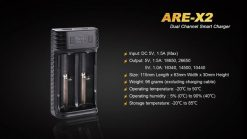 Fenix ARE-X2 Dual Channel Smart Charger Infographic 7