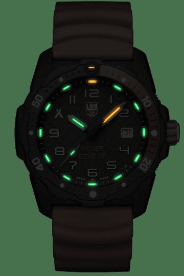 Luminox Bear Grylls Survival SEA 3720 Series 3729.NGU Black/Orange Front Side Center Night