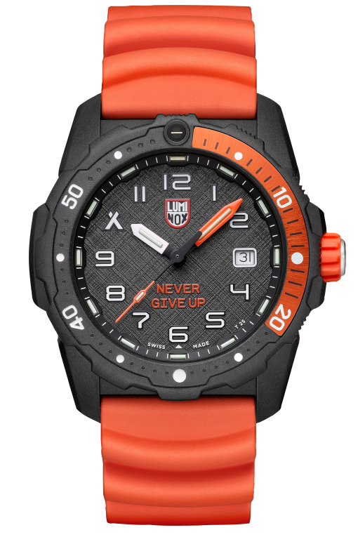 Luminox Bear Grylls Survival SEA 3720 Series 3729.NGU Black/Orange Front Side Closed Center