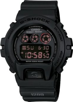 G-Shock Digital Master of G Black DW6900MS-1 Front Side Closed Center Angled
