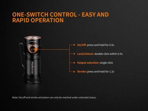 Fenix E18R Rechargeable LED Flashlight - 750 Lumens Infographic 10