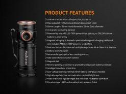 Fenix E18R Rechargeable LED Flashlight - 750 Lumens Infographic 13