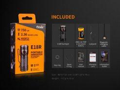 Fenix E18R Rechargeable LED Flashlight - 750 Lumens Infographic 14