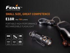 Fenix E18R Rechargeable LED Flashlight - 750 Lumens Infographic 1