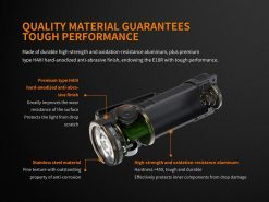 Fenix E18R Rechargeable LED Flashlight - 750 Lumens Infographic 3