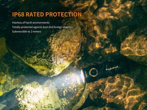 Fenix E18R Rechargeable LED Flashlight - 750 Lumens Infographic 6