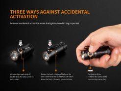Fenix E18R Rechargeable LED Flashlight - 750 Lumens Infographic 8
